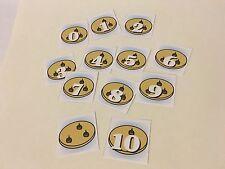Cookies 0-10 Number Cards - Laminated Card Set- Pre-school- Kindergarten