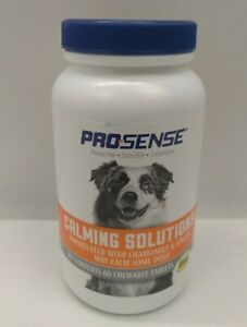 ProSense Anti-Stress Calming Tablets for Dogs, 60 ct Exp 12/2022