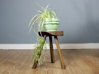 Vintage French Rustic Primitive Style Stool