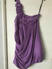 Warehouse Spotlight Lilac Silk One Shoulder Party Dress Size 12