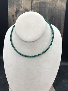 Barse Memory Wire Collar- Emerald Quartz & Sterling Silver-NWT