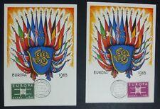 MAXI CARDS - 2 EUROPA CEPT - GRECIA - 1963