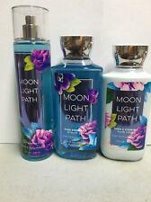 Bath & Body Works Moonlight Path Mist Lotion Wash 3 Piece Set (Full Size)