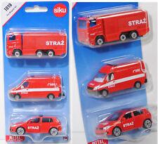 Siku Super 1818 Fire Brigade set con Scania, Sprinter & golf colección Polonia