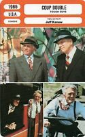Fiche Cinéma. Movie Card. Coup double/Tough Guys (USA) 1986 Jeff Kanew