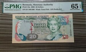 Bermuda 2000 $ 20 DOLLAR p53a PMG65 EPQ QEII