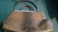 """DASEIN FAUX OSTRICH LEATHER LARGE TOTE """"VEGAN """"."""