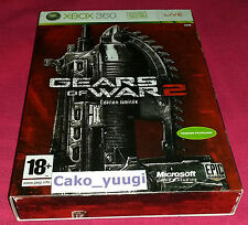 GEARS OF WAR 2 EDITION LIMITEE XBOX 360 TRES BON ETAT VERSION 100% FRANCAISE