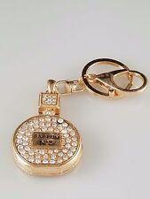 Rhinestone and Gold Parfum No 5 Bottle Key Chain