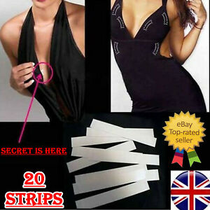 Fashion Double Sided Body Boob Tape Clear Toupee Breast Wig Dress Tape Strip UK
