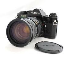 Canon AE-1 Program SLR Film Camera w/ New FD 35-105mm F/3.5 Zoom Lens from Japan