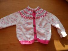 Hand-knitted baby's fairisle cardigan in bamboo/cotton mix