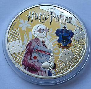 Luna Lovegood / Harry Potter / Hogwarts / zaubern - SILBER AUFLAGE - MÜNZE