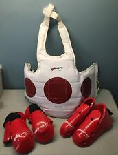 Mti Swift Reversible Sparring Gear Gloves Kick Shoe Chest Guard Large Lot