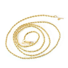 14K Yellow Gold 20 Inch Rope Chain 5.9 Grams