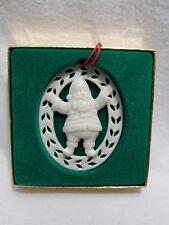 White Lenox Santa Christmas Ornament