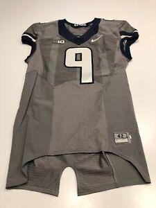 Game Worn Used Illinois Fighting Illini Football Jersey Nike Gray Ghost 42 #9