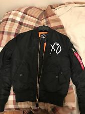 The Weeknd Starboy Alpha Industries MA-1 Bomber Jacket XO MERCHANDISE SIZE SMALL