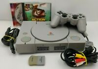 Sony Playstation 1 PS1 SCPH-9002 mit Chip ModChip + Dual Shock Controller Spiele