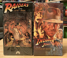 RAIDERS OF THE LOST ARK Indiana Jones Temple Of Doom VHS SEALED Rare NOS