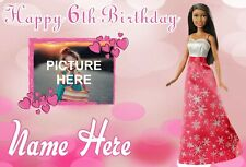 Barbie  | Girls Birthday Poster Sign | Personalised Name and Picture | TP335