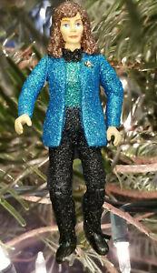 Dr Beverly Crusher Glitter Christmas Ornament Star Trek Next Generation