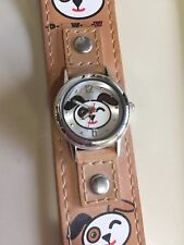 Puppy Face Leather Wristband Puppy Face Wristwatch With