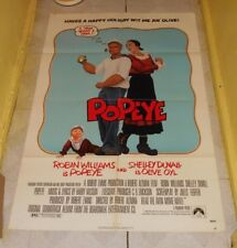 original POPEYE one-sheet movie poster Robin Williams Shelley Duvall