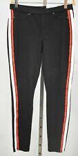 HUE 2X Black Racer Stripe Original Denim Leggings