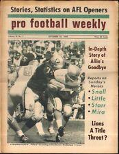 Pro Football Weekly September 25, 1969 Tom Keating Raiders Pete Beathard Oilers