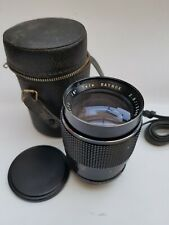 Raynox 135mm f2.8 fast prime, M42 mount, camera tested, adaptable to digital
