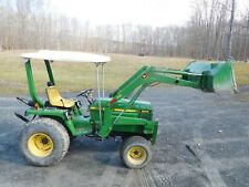 John Deere 855 4wd tractor with 70 front loader, 60 inch mower & back blade