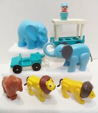 Fisher Price Little people  Zoo ,Lions Tram Elephants , assorted lot