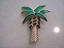 Signed Swan Swarovski California Palm Tree Brooch Pin Beautiful Mint Rare 068