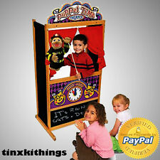 Wooden Puppet Theater Stage Kids Educational Show Hand Pretend Play Puppeteer Us