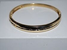 14kt Diamond gold bangle