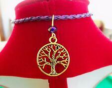 TREE of LIFE BRACELET gold Charm Hippie Purple NEW HANDMADE ~ Ships FREE to USA