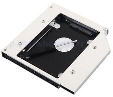 Universal SATA 2nd Hard Drive HD HDD SSD LED Caddy Swap 12.7mm Optical Drive Bay