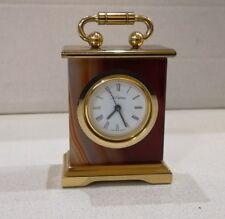 orologio  MINI  soprammobile  stile   OTTONE e alabastro