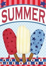 """Red White and Blue Pops Summer Garden Flag Patriotic Popsicles 12.5"""" x 18"""""""