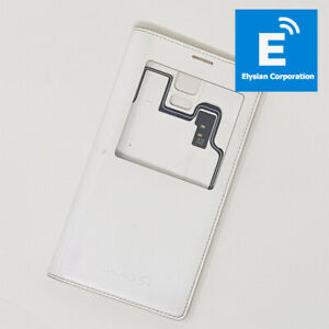 Genuine Samsung Galaxy S5 EF-CG900BW - Wireless Smart S View Back Cover - White