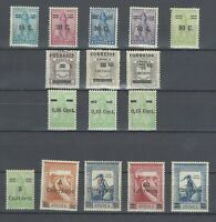 Portuguese Angola | 1934-35-38-45 | with Surcharge | MH OG