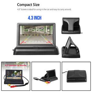 "4.3"" TFT LCD NTSC PAL Plegable 4.3inch Monitor de coche Parking Assist New B6"