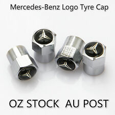 4x Mercedes-Benz Logo Emblem Car Air Dust Wheel Tyre Cover Screw Caps Valve Stem