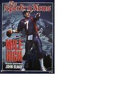 """MINT 1998 JOHN ELWAY """"MILE HIGH ROCKY MOUNTAINS MISSILE"""" DENVER BRONCOS POSTER"""