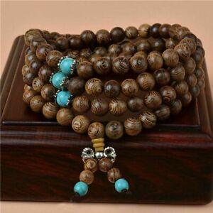 Bracciale Collana in Legno da Donna Mala Tibetano Rosario Buddista + Sacchetto