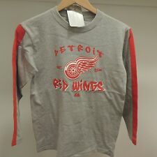 NHL Detroit Red Wings Long Sleeve Hockey Shirt New Youth LARGE