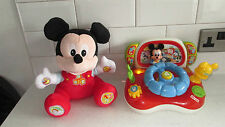 TALKING ACTIVITY MICKEY MOUSE CLUBHOUSE SOFT TOY & DRIVING SOUNDS LIGHTS CAR TOY