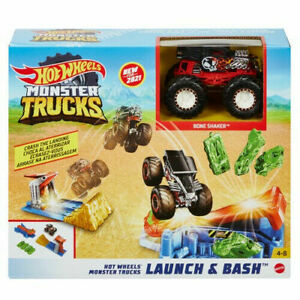 Hot Wheels Monster Trucks Launch and Bash Play Set