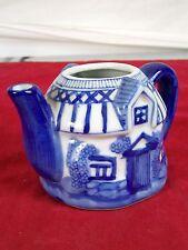 The Bombay Company Blue White Ceramic Glazed Tea Pot Creamer Server House